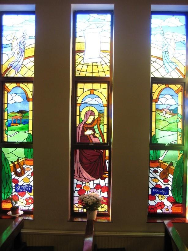 Witraż św. Cecylii